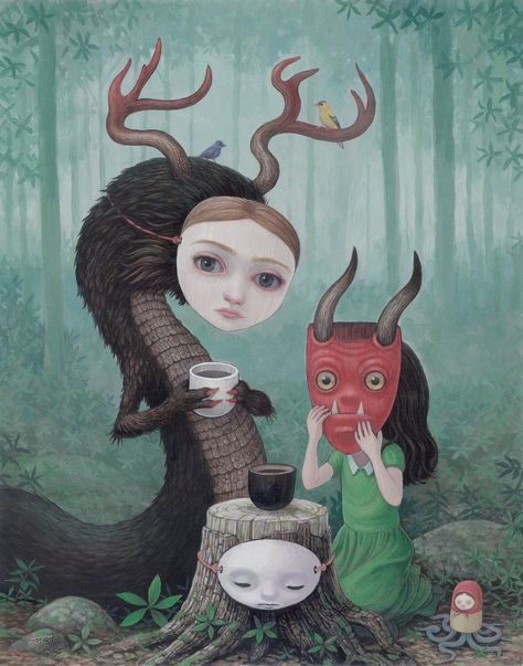 The Imagination and Mystery of Mark Ryden - Lustrations World Creepy Art, Weird Art, Arte Lowbrow, Bizarre, Arte Horror, Masks Art, Pop Surrealism, Psychedelic Art, Surreal Art