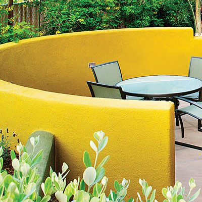 How to Design a Backyard Bistro   Curved walls, Walls and Backyard