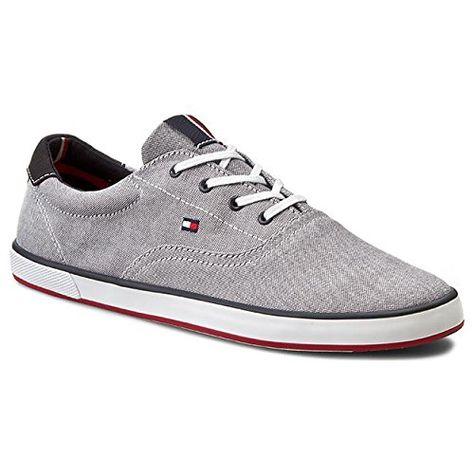 K1285eira HG 1d1, Sneaker Basses Femme, Gris (Light Grey 007), 41 EUTommy Hilfiger