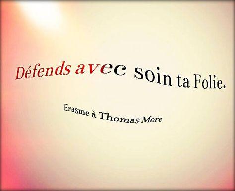 Erasme A Thomas More Je Gagne Citation Pensee Citation