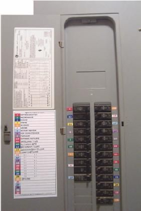 Electrical Box Decal Labels For Breakers And Fuses Residential /& Commercial