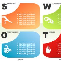 swot analysis powerpoint charts and diagrams | templates, Modern powerpoint