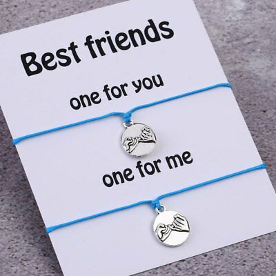 Pinky Promise Friend Bracelet with Interlocking Rings Perfect Gift