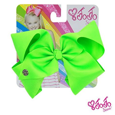 Hair Accessories | JoJo Siwa Signature Collection Hair Bow  Neon Green With Sticker Patch Set Included ** Want additional info? Click on the image.