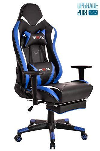 Ficmax Blue Gaming Chair High Back Ergonomic Computer Chair Racing