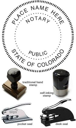 Colorado Notary Rubber Stamp Notary Seal Notary Public Stamp