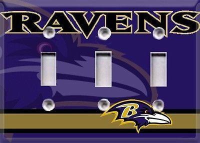 Baltimore Ravens Triple Light Switch