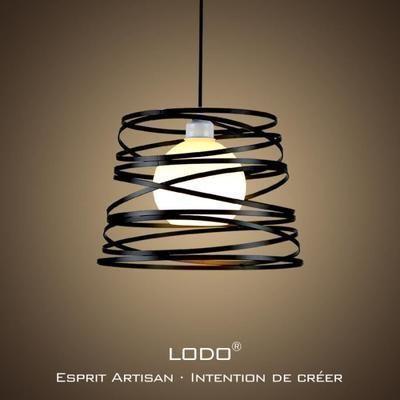 Lodo Nordic Fer Personnalite Créative Lustre Salon Moderne