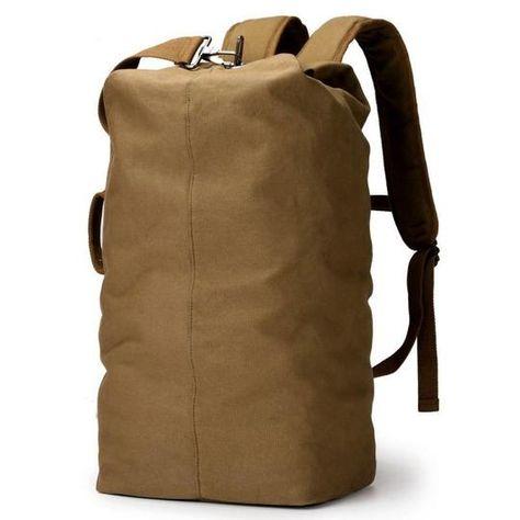 Large Capacity Handbag Luggage Canvas Backpack Hiking Camping Travel Duffle Bag