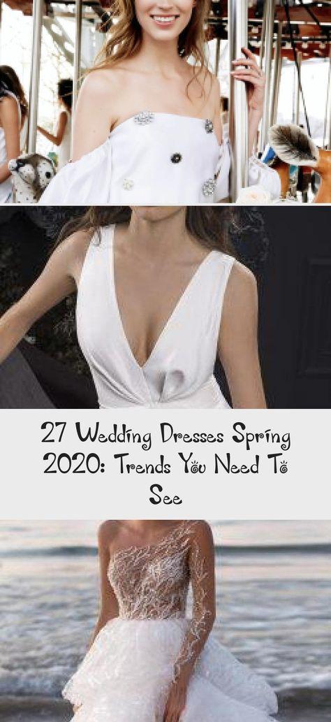 27 Wedding Dresses Spring 2020: Trends You Need To See | Wedding Forward #summerweddingdressesWithSleeves #summerweddingdressesRed #summerweddingdressesFloral #summerweddingdressesStrapless #summerweddingdressesBodyTypes