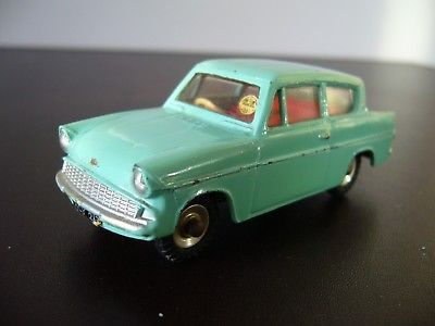 Vintage Dinky Toys Ford Anglia Car No 155 In Very Good Condition