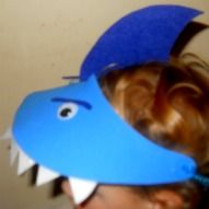 This Shark Hat Craft is a really simple hat c93f66bbcd4