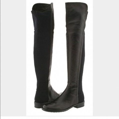 633a2c5af00 Stuart Weitzman 5050 Boots Black size 8 5050 boots. Good condition. Wear  throughout but nothing too heavy. See pictures for scuffs on toes.