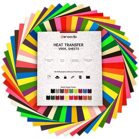TECKWRAP 12x10 Holographic Heat Transfer Vinyl Sheets Shining Laser Iron On Vinyl for Silhouette Cameo,Cricut 6 Sheets