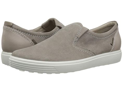 175087622fd9 ECCO Soft 7 Slip-On (Warm Grey Warm Grey Moon Rock Cow Nubuck) Women s Slip  on Shoes. Take life by the foot in the comfortable and fresh Soft 7 Slip-On  II.
