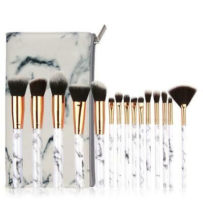 15 Pcs Set Marble Makeup Brushes Cosmetic Brush Tool With Storage Bag Kit En 2020 Fond De Teint Poudre Fond De Teint Fard