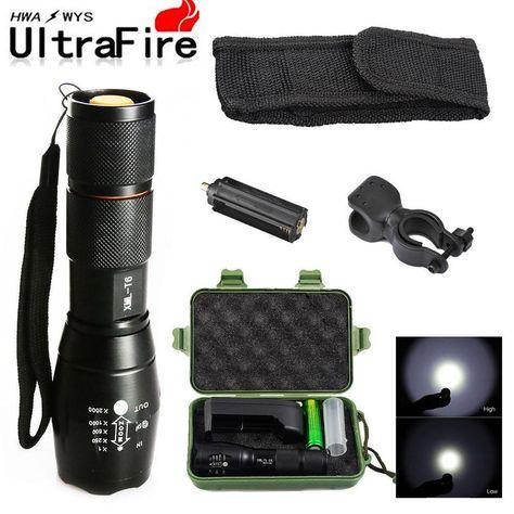Wfuture Military Grade LED Flashlight G700 SkyWolfeye x 800 zoom