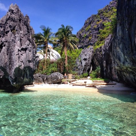 Matinloc Shrine, El Nido, Philippines — by Globe Surfing. BACUIT BAY - Tour C exploring the Bacuit bay is one of the best things I've ever done. The beaches in at the bay are...