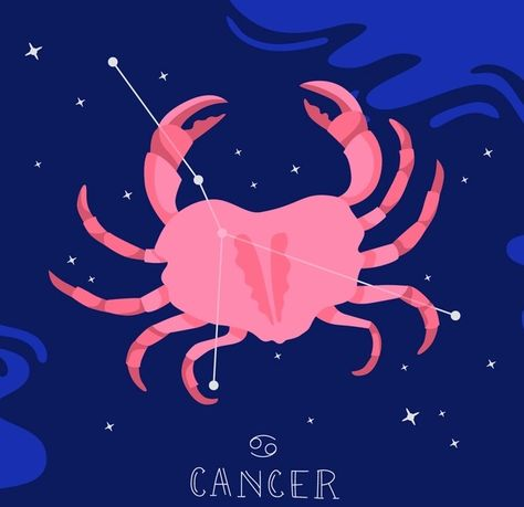 Cancer zodiac, a zodiac print of cancer constellation