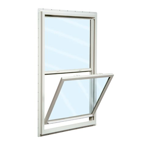 Reliabilt 150 Series 23 5 In X 35 5 In Vinyl New Construction White Single Hung Window Lowes Com In 2020 Single Hung Windows Window Installation New Construction