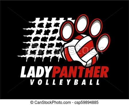 Lady Panther Volleyball Csp59894885 Volleyball Designs Volleyball Panther