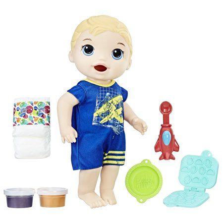 Baby Alive Super Snacks Snackin Luke Blonde Hair Doll Walmart Com Baby Alive Baby Alive Food Baby Dolls