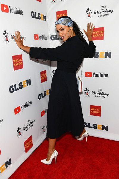 Rosario Dawson attends the 2017 GLSEN Respect Awards.
