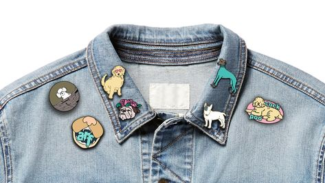 Funny Pet-Inspired Enamel Pins, Dog Collection by Fab