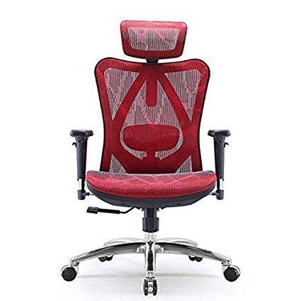Sihoo Chaise De Bureau Ergonomique Fauteuil De Bureau Dossier Haut Respirant Doux Pour La Peau En M Office Desk Chair Desk Chair Home Office Desks