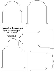 Freebie: Tombstone Template & Other Fall Printables