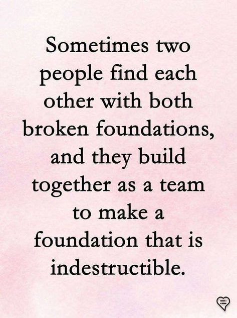 Together ... Two people find each other with both broken foudations ........................................... #together #two people #both #broken #foundations