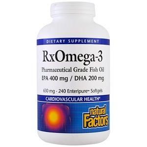 Natural Factors Rx Omega 3 Factors Epa 400 Mg Dha 200mg ソフトジェル 240粒 Fish Oil Epa Supplements Fish Oil