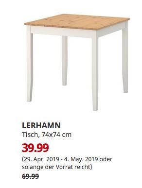 IKEA Norden Esstisch 74x74 cm Birke