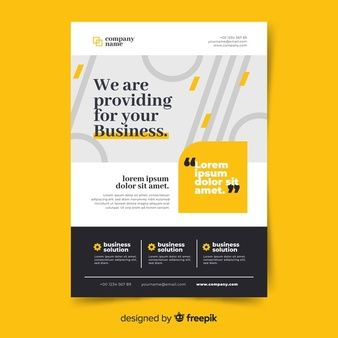 Download Flat Design Business Flyer Template for free