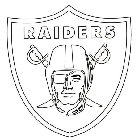 Oakland Raiders From Nfl Coloring Sheet Oakland Raiders Logo Nfl Logo Football Coloring Pages