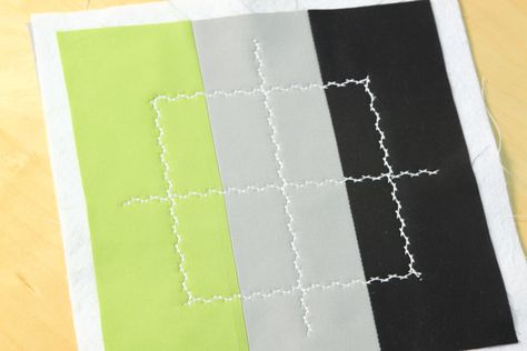 Using decorative stitching in modern quilting