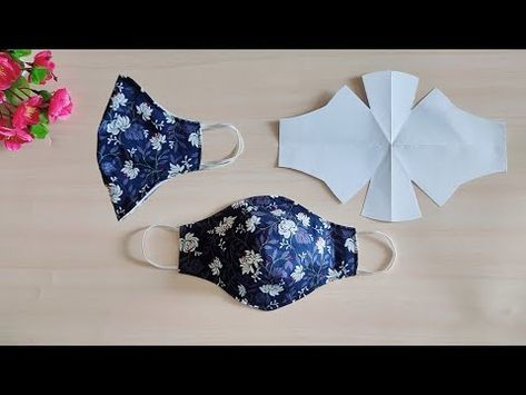 Small Sewing Projects, Sewing Hacks, Sewing Tutorials, Easy Face Masks, Diy Face Mask, Techniques Couture, Sewing Techniques, Fabric Crafts, Sewing Crafts