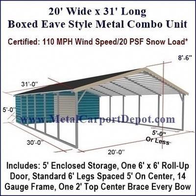 A Metal Building With A Garage Metalbuildings Building Metal Carports Carport With Storage Portable Carport