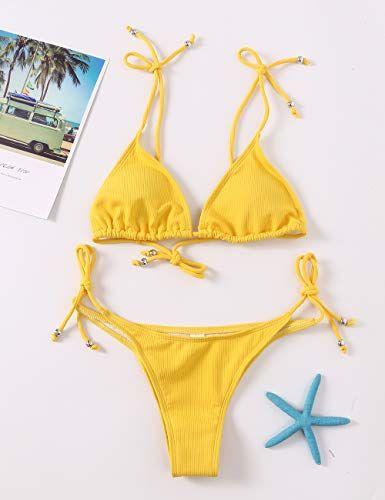 ❤SU/&YU❤Women Plus Size Print Bandage Bikini Swimsuit Two Piece Beachwear Swimwear