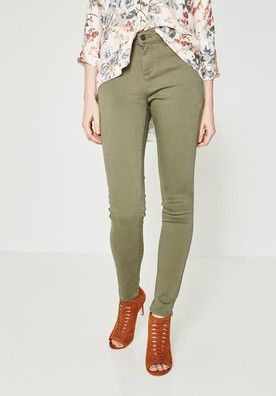 313f85f9ca06c5 Pantalon skinny push up ERNEST - Kaki - Jeans - Femme - Promod ...