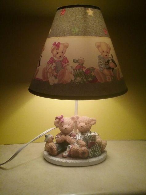 Precious Blue Jean Teddy Bear Lamp Blossom Bear Duck Dog Nursery
