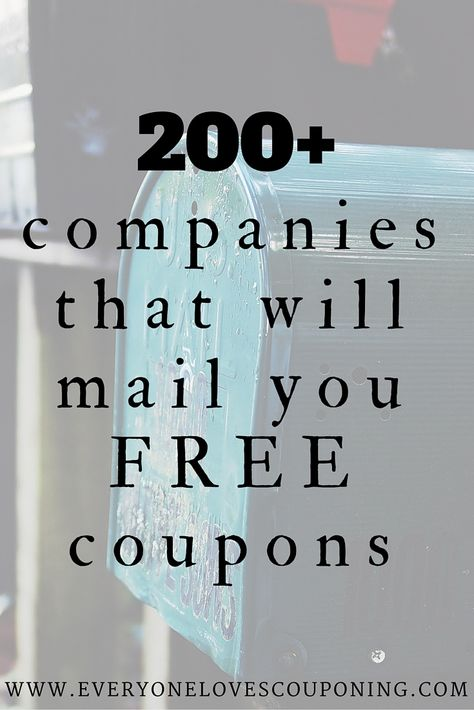 Companies You Can Contact For FREE Coupons! Companies You Can Contact For FREE Coupons! One of my favorite ways to get high-value and sometimes even FREE item coupons is e-mailing manufacturers. very simple and doesn't take a whole Companies Yo Extreme Couponing, Couponing 101, Start Couponing, Ways To Save Money, Money Saving Tips, Money Savers, Money Tips, Money Budget, Budget Help
