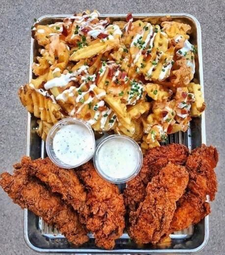Spicy chicken tenders and fries via FoodPorn on June 20 2018 at 11:48AM