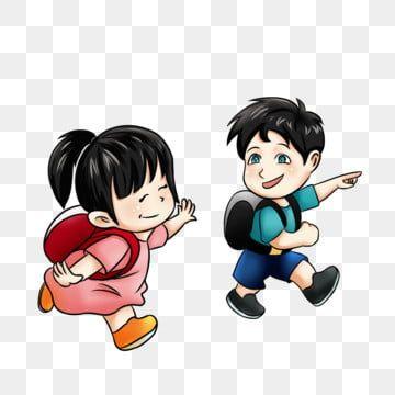 School Season School Started Childrens Day Cartoon Children Clipart School Children Student Png Transparent Clipart Image And Psd File For Free Download การ ต นน าร ก สาวการ ต นน าร ก กระเป าเป สะพายหล ง