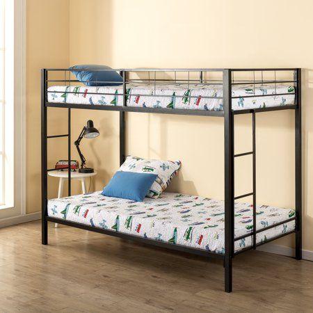 Mainstays Twin Over Metal Bunk Bed Walmart Com In 2020 Beds