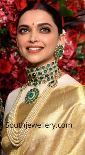 4a9efc02dbeae Deepika Padukones Wedding Reception Jewellery! photo | South Indian ...