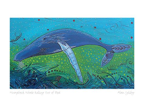 BLUE MOOSE IN A MEADOW by Alan Syliboy Mi/'kmaq First Nations Artist art print