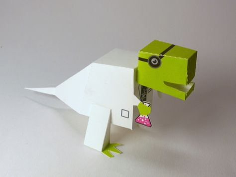 Scientist dino(free printable)  Nothing to see here, just a dinosaur doing science.