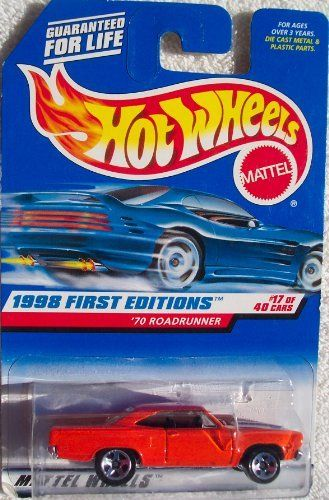 Hot Wheels /'70 Roadrunner 1998 First Editions Muscle Orange  A4