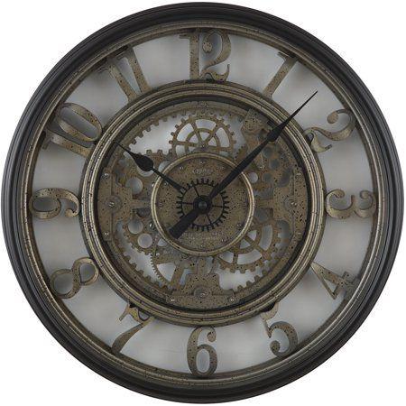 Better Homes And Gardens 20 Gear Wall Clock Walmart Com Gear Wall Clock Wall Clock Gear Clock